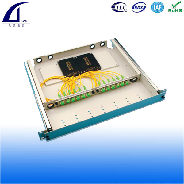 1x8 fiber optic PLC splitter module