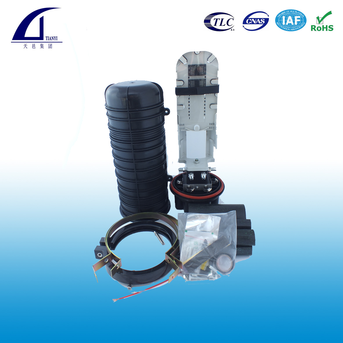 Dome type fiber optic splice closure FOSC